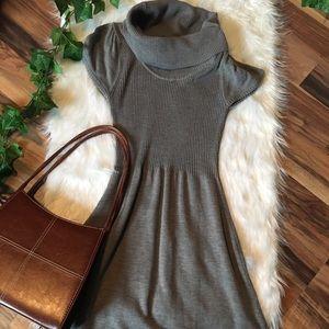 Calvin Klein Cowl Neck Sweater Dress Gray Size Sm